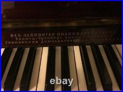 RONISCH vintage upright piano, cherry brown