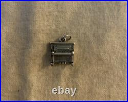 Rare Retired James Avery Sterling Silver Upright Piano Charm Uncut Loop