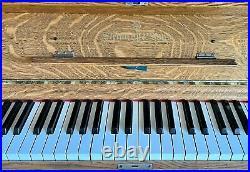 Restored 1908 Steinway Vertegrand Upright Piano Quarter Sawn Oak