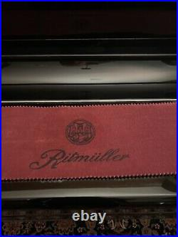 Ritmuller Upright Piano With Bench Black Case Model UP123R-1