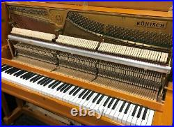Ronisch 48 Upright Piano Picarzo Pianos Polished Cherry 2001 Model VIDEO