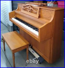 Samick JS-143 Console Piano (with bench)