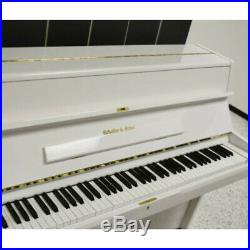 Schafer & Songs Studio Upright Piano white POlish