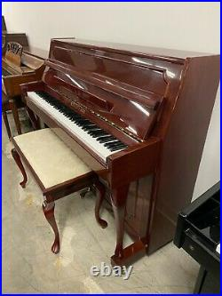 Schafer & Sons French Provincial Upright Piano 43 Polished Mahogany