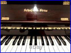 Schafer & Sons VS-40 Upright Piano 40 Polished Mahogany