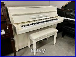 Schafer & Sons VS-42 Upright Piano 42 Polished Ivory/White