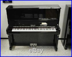 Schiller Concert 52 Upright Piano Ebony Polish