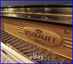 Schimmel C130 51'' Player Upright Piano Polished Ebony PianoDisc/QRS