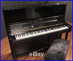 Schimmel C130 51'' Studio Upright Piano Polished Ebony