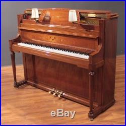 Schimmel Decorator Upright Console Piano 44'' Mahogany 112LS