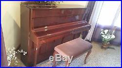 Schimmel Mahogony upright piano
