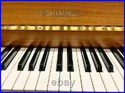 Schimmel Upright Piano Satin Teak