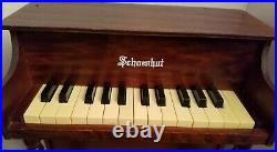 Schoenhut Children's Toy Piano 25-Keys Wood Upright Made in USA Rare Vintage