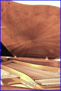 Seiler Flügel 186 LOUVRE Kirschbaum poliert, mit Ranken aus Rosenholz