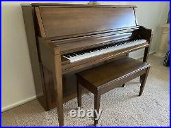 Sohmer Piano 45SK 1972 And Original Storage Bench Beautiful and Cared For
