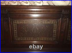 Spectacular antique Horace Waters & Co Cabinet Grand carved upright piano