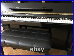 Steigerman Upright Piano, including NEW bench with storage (Black, Barely Used)