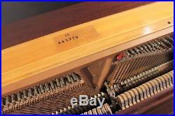 Steinway 1098 46'' Player Upright Piano Mahogany QRS PNO3