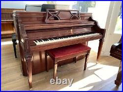 Steinway Console Upright Piano 42 Satin Mahogany