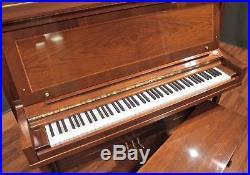 Steinway K-52 Player Upright Piano 52'' Crown Jewel Walnut PianoDisc/QRS