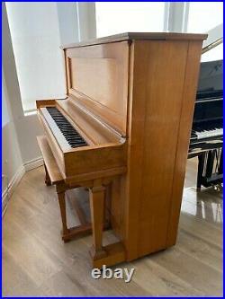 Steinway K-52 Upright Piano 52 Satin Walnut