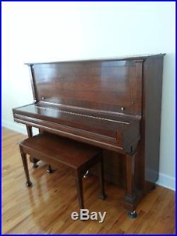 Steinway K-52 upright piano