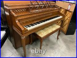 Steinway Louis XV Upright Piano 42 Satin Walnut