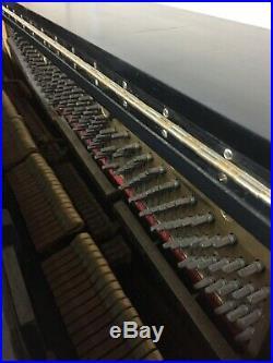 Steinway & Sons 52 Upright Piano & Bench Ebony Satin Finish $2,750.00