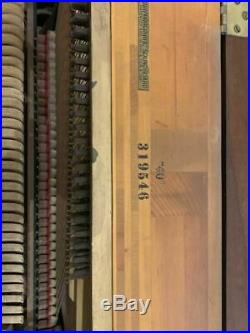 Steinway & Sons Hepplewhite Upright Piano 41 Satin Walnut