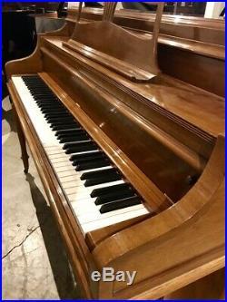 Steinway & Sons Hepplewhite Upright Piano 42 Satin Walnut