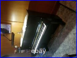 Steinway & Sons Professional Model 1098 upright piano 46 1/2 (118 cm) Ebonized