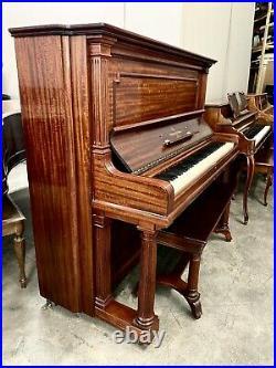 Steinway Tall Upright Piano 52 Satin Mahogany