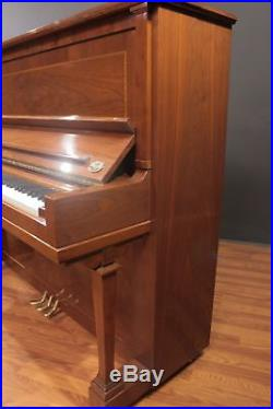 Steinway Traditional K-52 Upright Piano 52'' Crown Jewel Walnut 1997