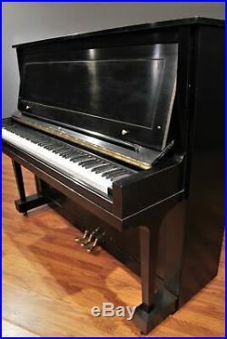 Steinway Traditional K-52 Upright Piano 52'' Ebony Satin 1985
