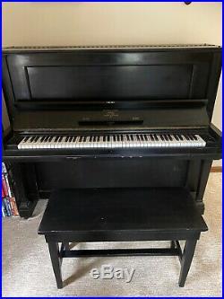 Steinway Upright Ebony 132712 1908 Piano