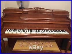 Steinway Upright Piano 42 Satin Walnut