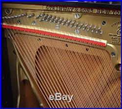 Steinway Upright Piano Model F 54 Vertical GORGEOUS K Ebony