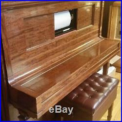 Steinway Upright Player Piano Aeolian Player Action