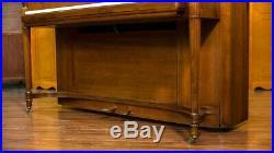 Steinway studio upright built in 1938 mahogany satin finish 116 cm height