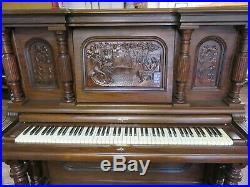 Strich & Zeidler Roman Model G Upright Piano As Is