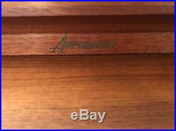 Ultra Rare Mid Century Modern Baldwin Acrosonic Spinet Piano with Woven Cane