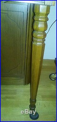Upright Oak Model 2725 Wurlitzer 88 Key With Bench Console Piano