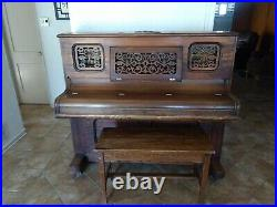 Upright Piano 88 Keys Ivers & Pond Vintage Music Instruments Solid Wood with Bench