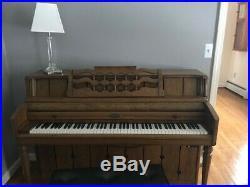 Upright Wurlitzer piano