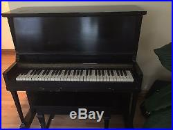 Upright piano, 1930's by KROEGER. Keys are in tact, playable