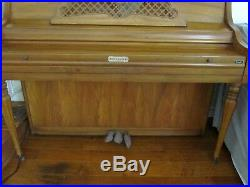 Used Upright Sherman Clay Piano Manuf. By Kimball, S325 Console, Pick Up, With Bench