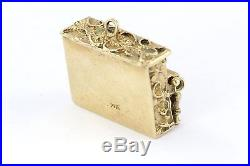 Vintage 14K Gold & Coral Upright Piano Movable Charm