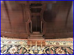 Vintage 1930's/1940's Haddorff Vertichord Mahogany Spinet Piano & Matching Bench