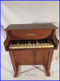Vintage 1950 JAYMAR 20 Tall Children's Upright Piano All keys Work