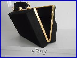 Vintage Anne-Marie Baretta Paris Novelty Handbag Upright Piano Black Suede